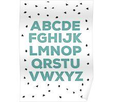 Alphabet (green) Poster