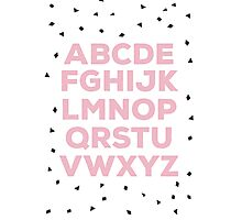 Alphabet (pink) Photographic Print