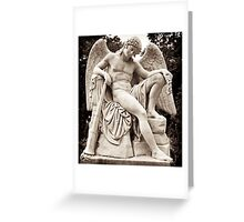 angel of sorrow, with trumpet. Greeting Card