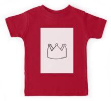 Crown (black and white) Kids Tee