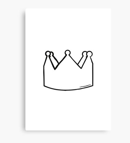 Crown (black and white) Canvas Print