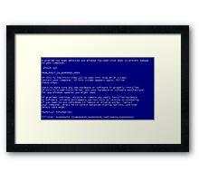 Pantallazo Windows, Windows error, Pantallazo azul, Blue screen. Framed Print