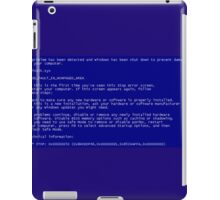 Pantallazo Windows, Windows error, Pantallazo azul, Blue screen. iPad Case/Skin