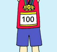 100th marathon congratulations for a woman Sticker
