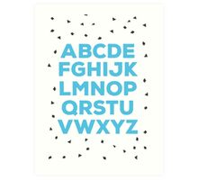 Alphabet (blue) Art Print