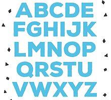 Alphabet (blue) by elioandthefox