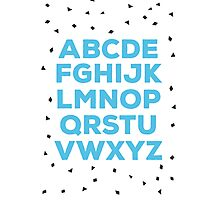 Alphabet (blue) Photographic Print