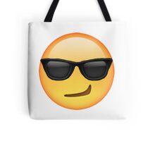 Cool Smirking Emoji Tote Bag