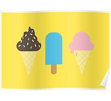 Ice Creams Poster