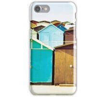 English Beach Huts  iPhone Case/Skin