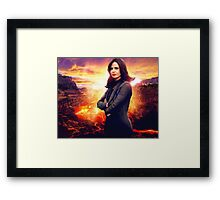 OUAT in the Underworld - Regina Mills Framed Print