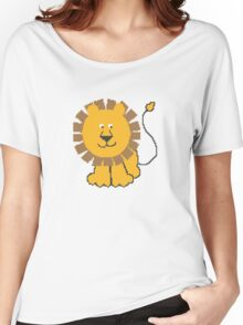 Funny cartoon baby lion Women's Relaxed Fit T-Shirt