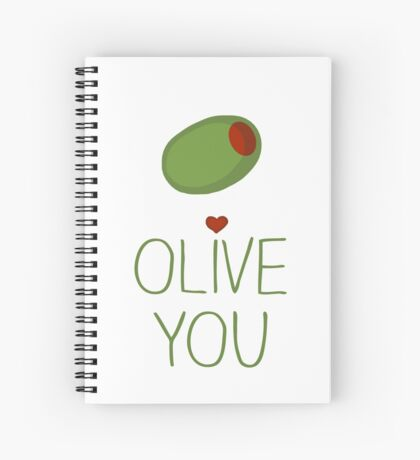 Olive You Spiral Notebook