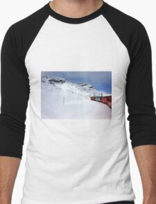 On the Bernina Express Men's Baseball ¾ T-Shirt