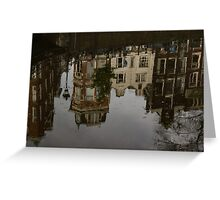 Amsterdam - Moody Canal Reflections in the Rain Greeting Card