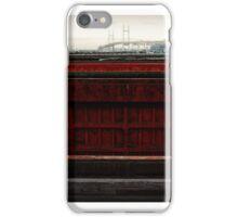 Barges & Yokohama Bay Bridge iPhone Case/Skin