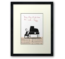 """Sing along if you know the words..."" Framed Print"