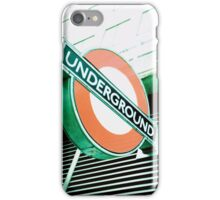 London Underground Sign iPhone Case/Skin