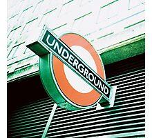 London Underground Sign Photographic Print