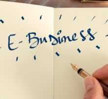 Motivational concept with handwritten text E-BUSINESS Sticker