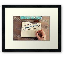 Motivational concept with handwritten text BRAINSTORM Framed Print