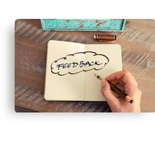 Motivational concept with handwritten text FEEDBACK Canvas Print