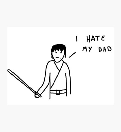 Badly drawn Jedi - I hate my dad (parody) Photographic Print