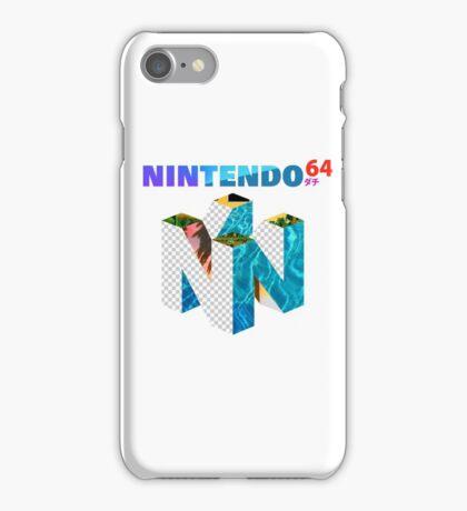 Vaporwave Nintendo 64 iPhone Case/Skin