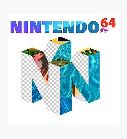 Vaporwave Nintendo 64 Photographic Print