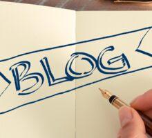 Motivational concept with handwritten text BLOG Sticker