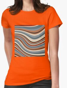 Abstract retro striped colorful background T-Shirt