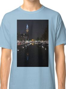 Magical Amsterdam Night - Blue Crown Skyline Classic T-Shirt