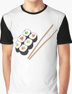 Sushi rolls with chopsticks Graphic T-Shirt