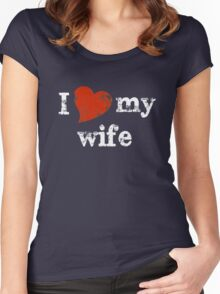 I 'heart' my wife Women's Fitted Scoop T-Shirt