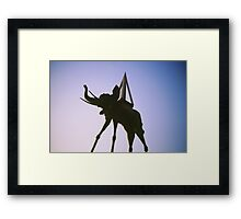 Les Elephants Framed Print