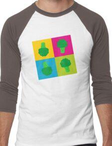 Popart Broccoli Men's Baseball ¾ T-Shirt