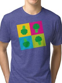 Popart Broccoli Tri-blend T-Shirt