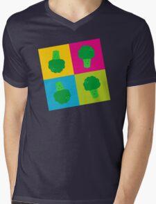 Popart Broccoli Mens V-Neck T-Shirt