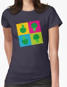 Popart Broccoli Womens Fitted T-Shirt
