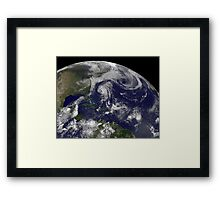 Tropical cyclones Katia, Lee, Maria and Nate in the Atlantic Ocean. Framed Print