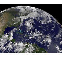 Tropical cyclones Katia, Lee, Maria and Nate in the Atlantic Ocean. Photographic Print