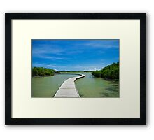 Road On Lake Framed Print