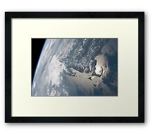 Sunglint on the waters of Earth. Framed Print