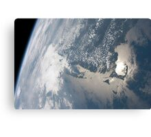 Sunglint on the waters of Earth. Canvas Print