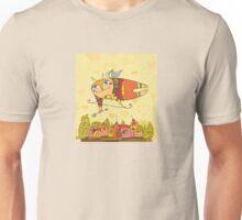 Cupid Flying Bow City Unisex T-Shirt