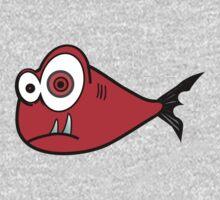Red big eyed cartoon fish Baby Tee