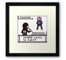 The Walking Dead / Pokemon Fanart Framed Print