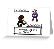 The Walking Dead / Pokemon Fanart Greeting Card
