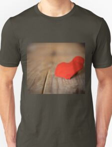 Red heart with board valentines concept of love T-Shirt