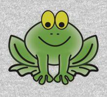 Green Cartoon frog One Piece - Long Sleeve